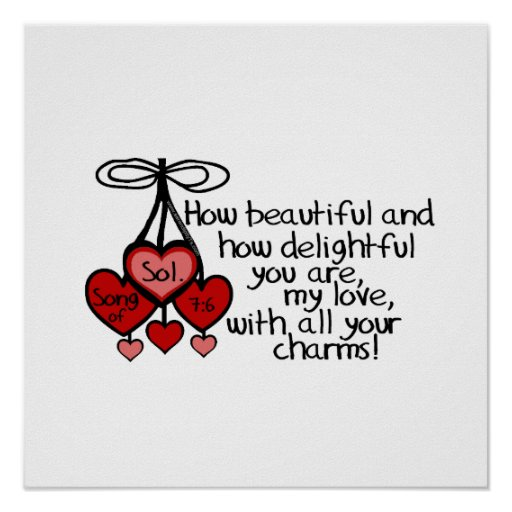 Song of Solomon 7:6 Posters