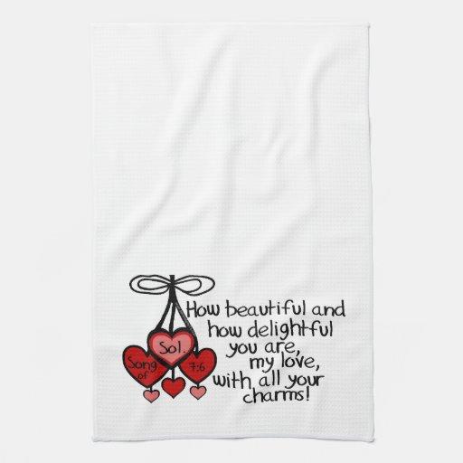 Song of Solomon 7:6 Hand Towels