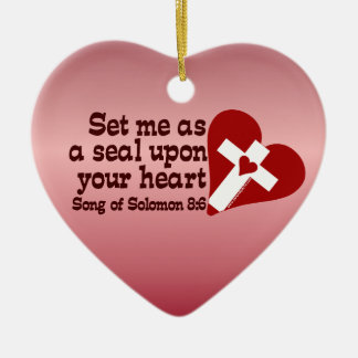 Song of Solomon 8:6 Ceramic Heart Decoration