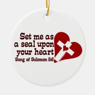 Song of Solomon 8:6 Round Ceramic Decoration