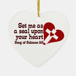 Song of Solomon 8:6 Ceramic Heart Decoration