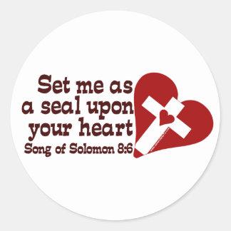 Song of Solomon 8:6 Round Sticker