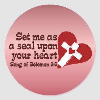 Song of Solomon 8:6 Round Sticker
