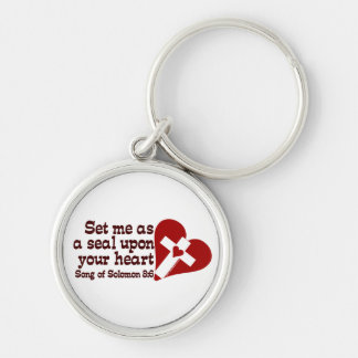 Song of Solomon 8:6 Silver-Colored Round Key Ring