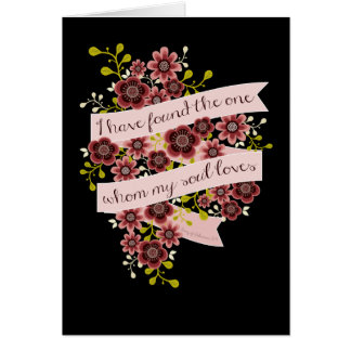 Song of Solomon Love Quote Greeting Card