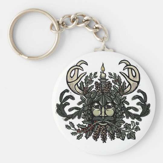 Song of Solstice Green Man Key Chain