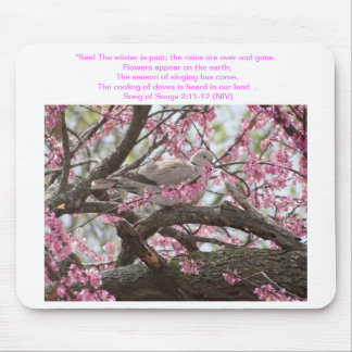 Song of Songs 2:11-12 Dove & Redbud Mouse Pad