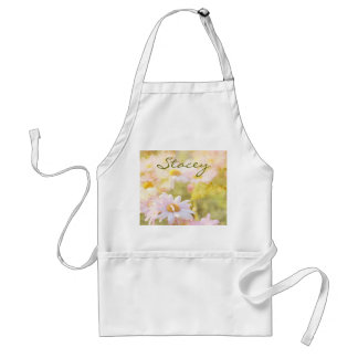 Song of Spring I - Lovely Pale Pink Daisies Asters Adult Apron