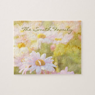 Song of Spring I - Lovely Pale Pink Daisies Asters Puzzle