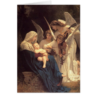 Song of the Angles Baby Jesus Christmas Card