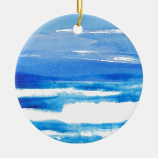Song of the Seashore - CricketDiane Ocean Waves Christmas Ornament