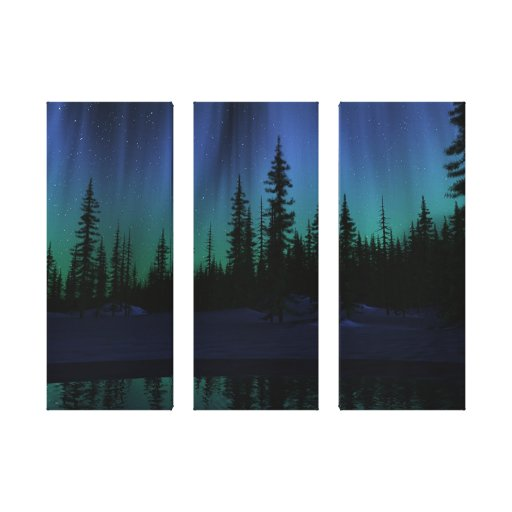 """Song of the Sky"" Triptych Canvas Stretched Canvas Print"