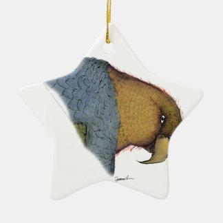 song parrot, tony fernandes ceramic star decoration