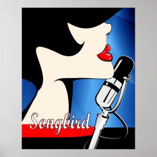Songbird 16x20 Poster Art, Music Themed
