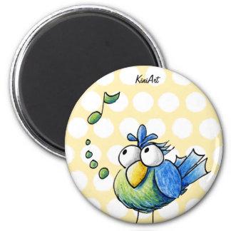Songbird 6 Cm Round Magnet