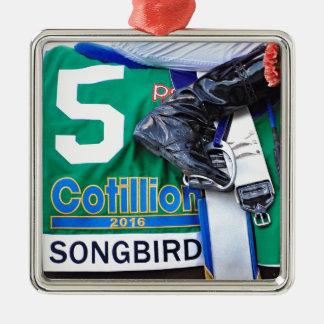 Songbird- Cotillion 16' Silver-Colored Square Decoration