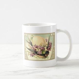 Songbird Easter Egg Crocus Lily Of The Valley Basic White Mug