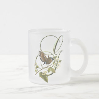 Songbird Initial G Frosted Glass Mug