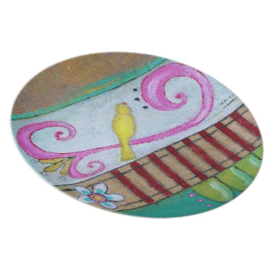 Songbird Melamine Plate