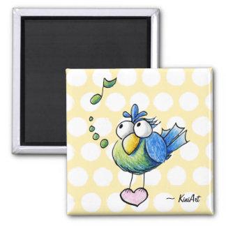 Songbird Square Magnet