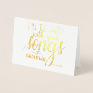 Songs of Gratitude, C.H. Spurgeon Quote, Christian Foil Card