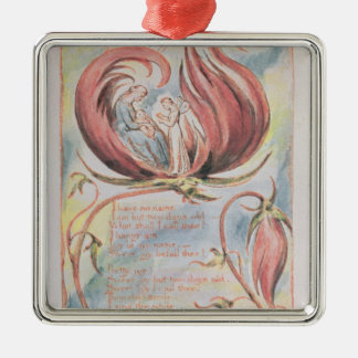 Songs of Innocence; Infant Joy, 1789 Silver-Colored Square Decoration