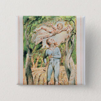 """Songs of Innocence; """"the Piper"""" , 1789 15 Cm Square Badge"""
