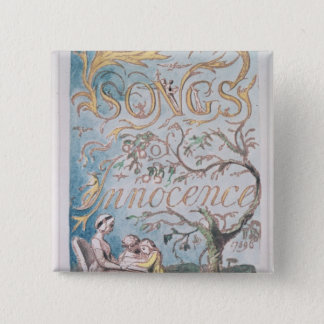 Songs of Innocence; Title Page, 1789 15 Cm Square Badge