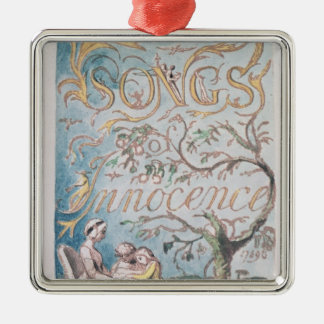 Songs of Innocence; Title Page, 1789 Christmas Ornament