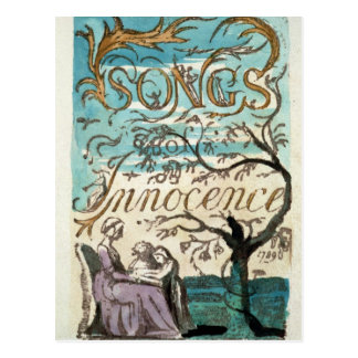 Songs of Innocence, title page Postcard