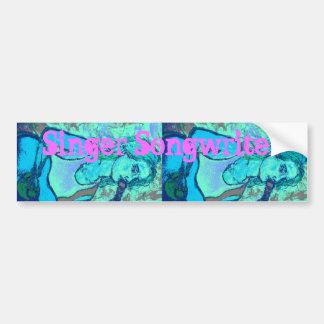 songstress screenprint look bumper stickers