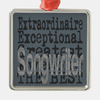 Songwriter Extraordinaire Silver-Colored Square Decoration