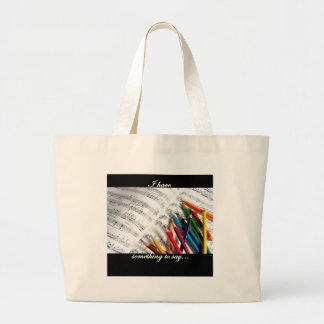 Songwriter - I have something to say Jumbo Tote Bag