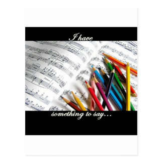 Songwriter - I have something to say Postcard
