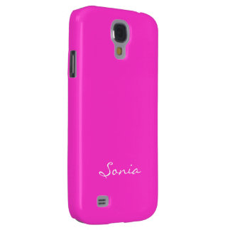 Sonia Samsung Galaxy s4 pink cover Galaxy S4 Case