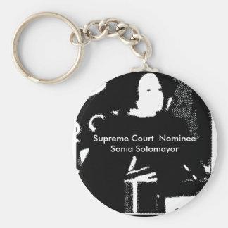Sonia Sotomayor Supreme Court  Nominee Basic Round Button Key Ring