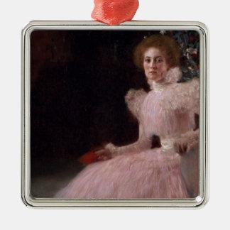 Sonja Knips, 1898 Silver-Colored Square Decoration