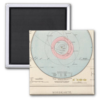 Sonnensystem, Mondkarte Celestial Map Magnet