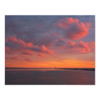 Sonnenuntergang 1 11 cm x 14 cm invitation card