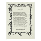 Sonnet # 17 by William Shakespeare Poster