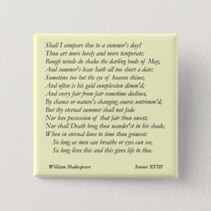 Sonnet 18 By William Gifts & Gift Ideas | Zazzle UK