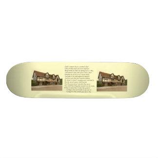 Sonnet # 18 by William Shakespeare Custom Skate Board