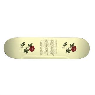 Sonnet 18 by William Shakespeare Skate Deck