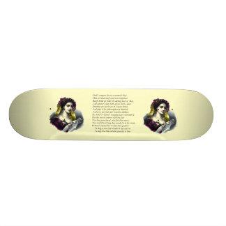 Sonnet # 18 by William Shakespeare Skateboard Deck