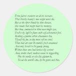 Sonnet # 1 by William Shakespeare Round Sticker