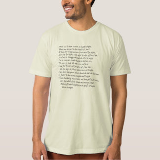 Sonnet # 28 by William Shakespeare T Shirt
