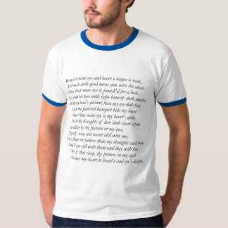 Sonnet # 47 by William Shakespeare Tshirt