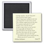 Sonnet # 4 by William Shakespeare Fridge Magnets