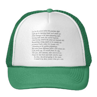 Sonnet # 7 by William Shakespeare Cap