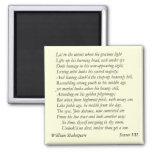 Sonnet # 7 by William Shakespeare Fridge Magnet